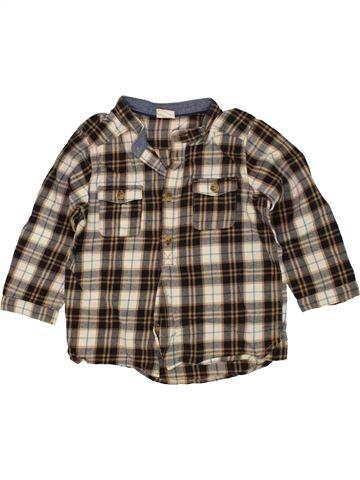 Camisa de manga larga niño H&M marrón 12 meses invierno #1459788_1