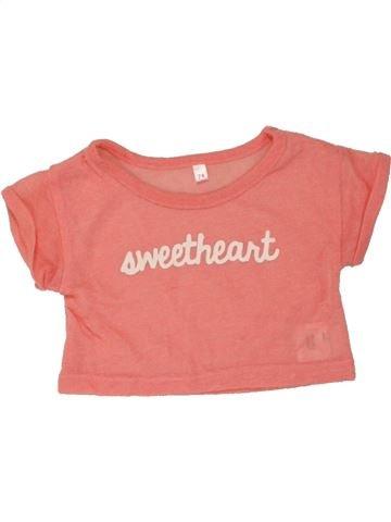 Camiseta de manga corta niña SANS MARQUE naranja 12 meses verano #1460026_1
