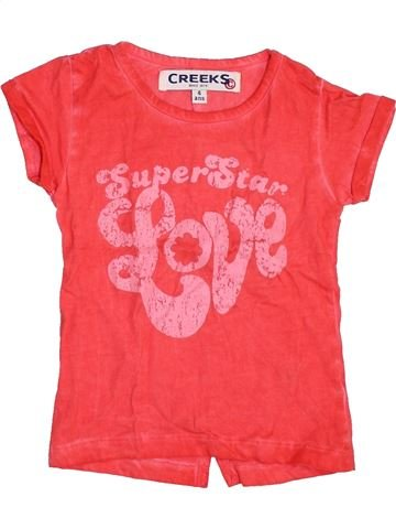 Camiseta de manga corta niña CREEKS rojo 4 años verano #1460206_1