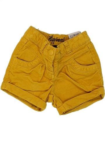 Short-Bermudas niña JBC amarillo 12 meses invierno #1460420_1