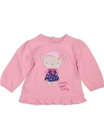 T-shirt manches longues fille GEORGE rose 3 mois hiver #1460568_1