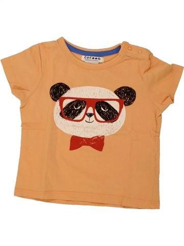 T-shirt manches courtes garçon LA REDOUTE CRÉATION orange 9 mois été #1461075_1