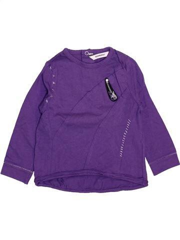 T-shirt manches longues garçon 3 POMMES violet 18 mois hiver #1461188_1