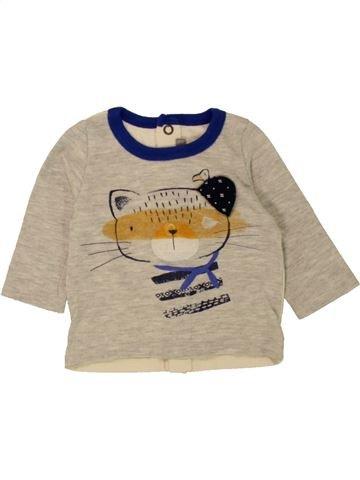 T-shirt manches longues garçon CATIMINI beige 3 mois hiver #1461405_1