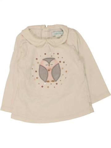 T-shirt manches longues fille OKAIDI beige 6 mois hiver #1462098_1
