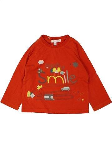 T-shirt manches longues garçon KIABI rouge 12 mois hiver #1462162_1