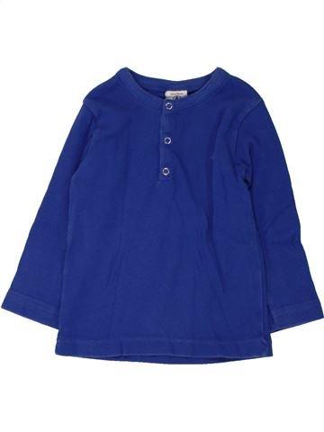 T-shirt manches longues garçon PETIT BATEAU bleu 2 ans hiver #1462357_1