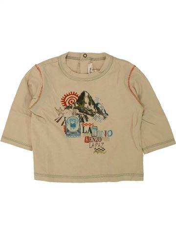 T-shirt manches longues garçon KENZO beige 6 mois hiver #1462782_1
