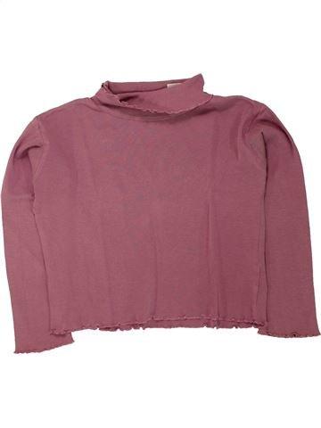 T-shirt col roulé fille LA REDOUTE CRÉATION marron 8 ans hiver #1462873_1