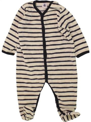 Pyjama 1 pièce garçon PETIT BATEAU beige 12 mois hiver #1463280_1