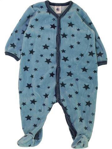 Pyjama 1 pièce garçon PETIT BATEAU bleu 6 mois hiver #1463293_1