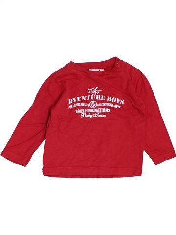 T-shirt manches longues garçon PRENATAL rouge 6 mois hiver #1463393_1