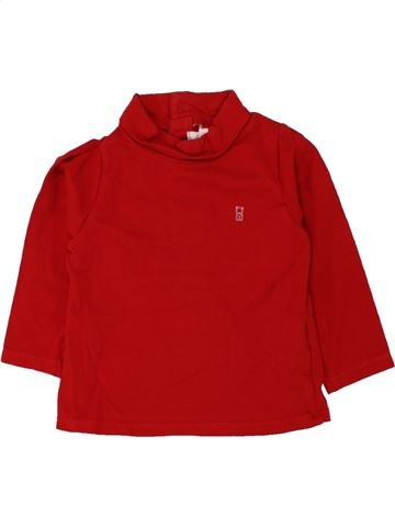 T-shirt manches longues fille OKAIDI rouge 12 mois hiver #1463436_1
