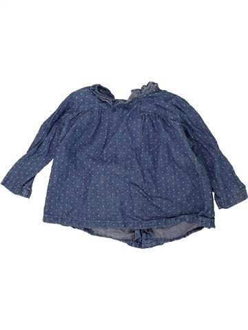 Blouse manches longues fille BOUT'CHOU bleu 12 mois hiver #1463741_1