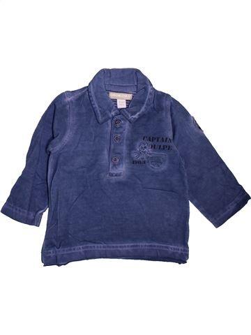 Polo manches longues garçon ORCHESTRA bleu 6 mois hiver #1464285_1