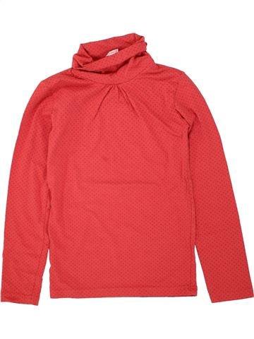 T-shirt col roulé fille GEMO rouge 10 ans hiver #1464318_1