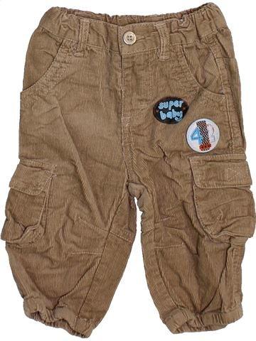 Pantalon garçon BERTI marron 3 mois hiver #1464422_1