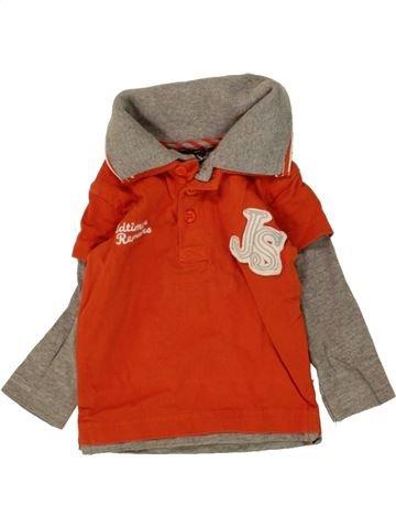 Polo manches longues garçon JUST SMALL orange 3 mois hiver #1465198_1