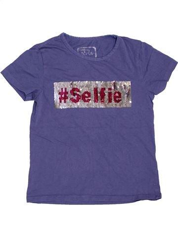 T-shirt manches courtes fille PEP&CO bleu 9 ans été #1465236_1