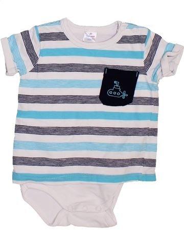 T-shirt manches courtes garçon TOPOMINI gris 6 mois été #1465458_1