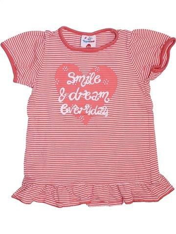T-shirt manches courtes fille TOPOLINO rose 6 ans été #1465472_1