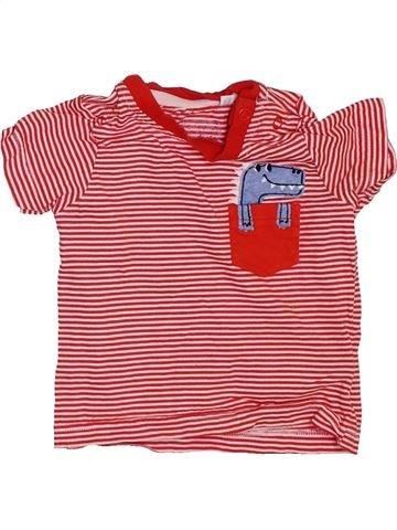 T-shirt manches courtes garçon DEBENHAMS rose 6 mois été #1465927_1