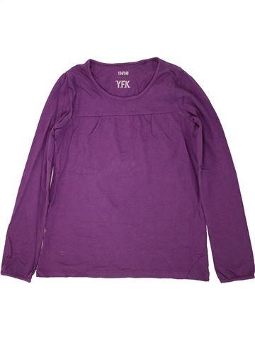 T-shirt manches longues fille YFK violet 10 ans hiver #1466129_1