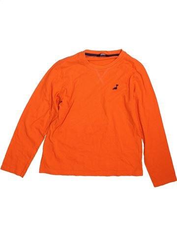 T-shirt manches longues garçon GEORGE orange 10 ans hiver #1467549_1