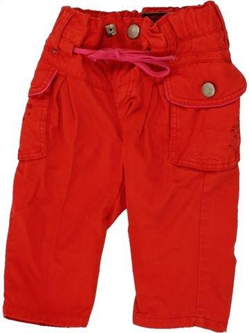 Jean fille CATIMINI rouge 6 mois hiver #1468333_1