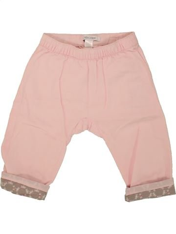 Pantalon fille OKAIDI rose 6 mois été #1468673_1
