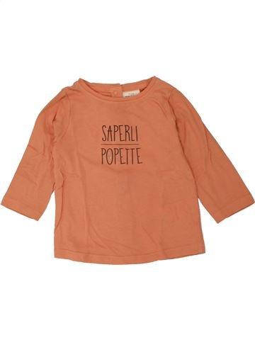 T-shirt manches longues fille TAPE À L'OEIL orange 9 mois hiver #1469106_1