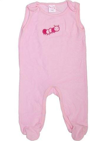 Pijama de 1 pieza niña IMPIDIMPI rosa 6 meses invierno #1469211_1