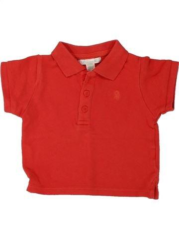 Polo manches courtes garçon OBAIBI rouge 6 mois été #1469504_1