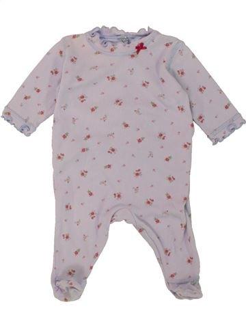 Pyjama 1 pièce fille PETIT BATEAU gris 1 mois été #1469680_1