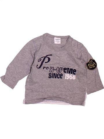 T-shirt manches longues garçon DIRKJE gris 6 mois hiver #1472810_1
