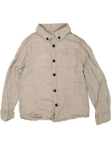 Chemise manches longues garçon F&F KIDS beige 7 ans hiver #1473084_1
