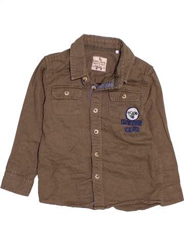 Camisa de manga larga niño TU marrón 4 años invierno #1473658_1