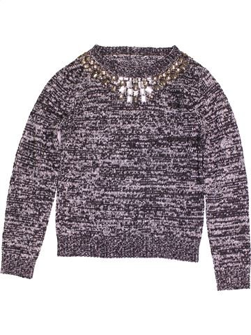Pull fille MISS E-VIE gris 12 ans hiver #1474451_1
