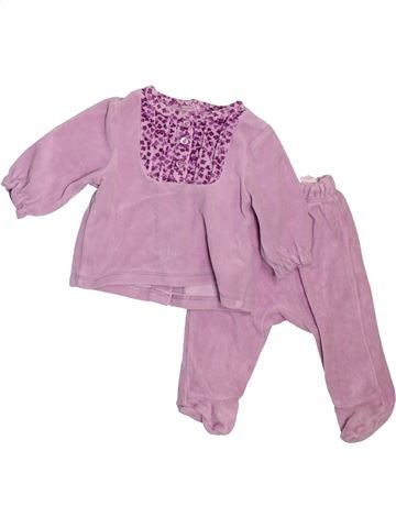 Pyjama 2 pièces fille VERTBAUDET rose 1 mois hiver #1475064_1