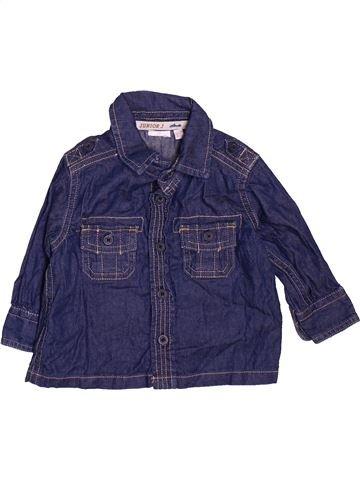 Chemise manches longues garçon JASPER CONRAN bleu 3 mois hiver #1476185_1