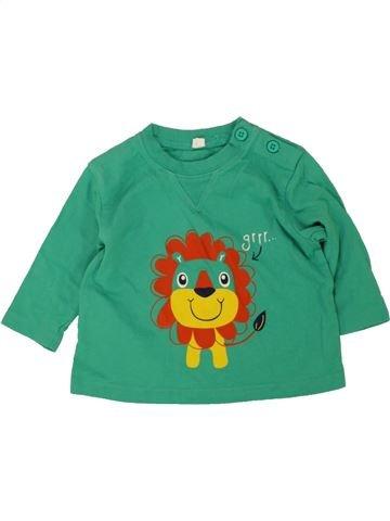 T-shirt manches longues garçon SANS MARQUE vert 3 mois hiver #1476282_1
