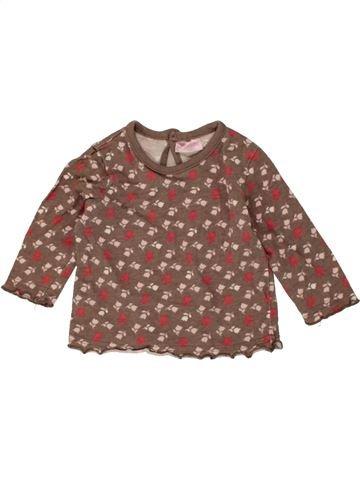 Camiseta de manga larga niña CHEROKEE marrón 6 meses invierno #1478689_1