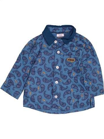 Chemise manches longues garçon MAMAS & PAPAS bleu 6 mois hiver #1479339_1