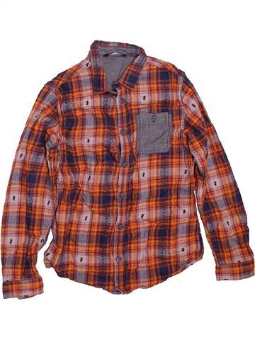 Chemise manches longues garçon GEORGE marron 10 ans hiver #1479919_1