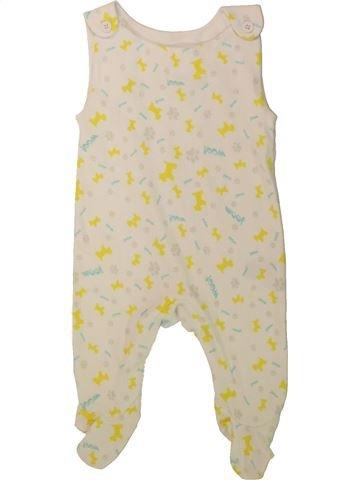 Pyjama 1 pièce garçon SANS MARQUE blanc 3 mois été #1480082_1