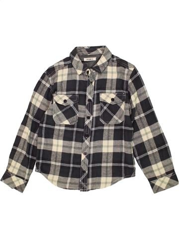 Chemise manches longues garçon PEP&CO marron 8 ans hiver #1481034_1