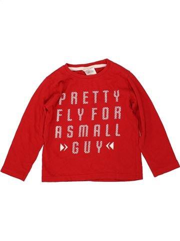 T-shirt manches longues garçon URBAN RASCALS rouge 3 ans hiver #1481447_1
