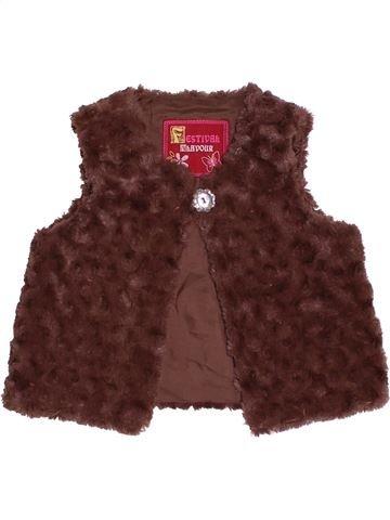 Chaleco niña DUNNES STORES marrón 3 años invierno #1484304_1