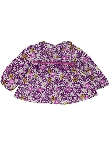 Blusa de manga larga niña MONSOON violeta 6 meses invierno #1484567_1