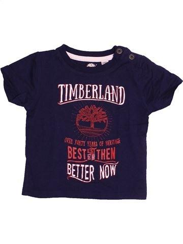 T-shirt manches courtes garçon TIMBERLAND bleu 12 mois été #1485250_1